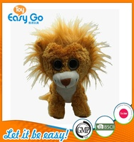 Customized big eyes plush lion toys