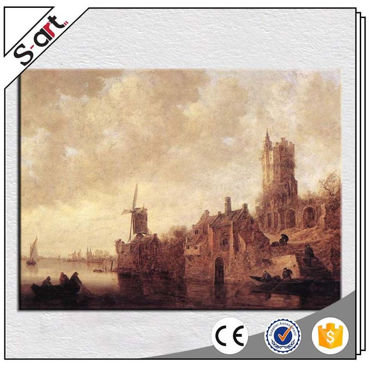 China supplier customized design classic landscape oil painting