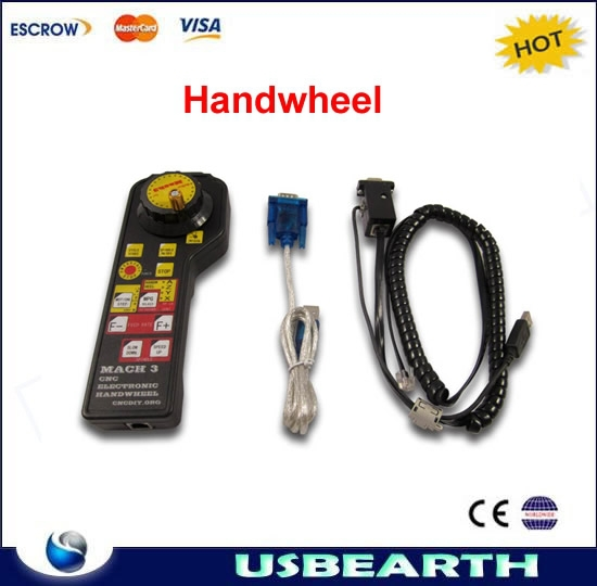 CNC Mach3 USB Electronic Handwheel Manual Controller MODBUS MPG + one linking caple