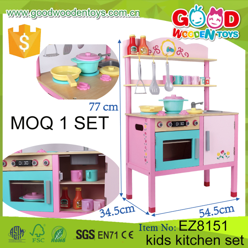 2017 new item kids kitchen toy intelligent pretend play for Kitchen set game