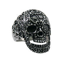 Punk style biker jewelry fashion stainless steel rings Men's Tattoo's Gone Wild Ring
