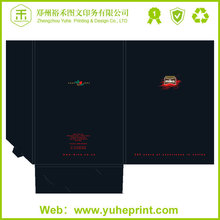 Handmade design file folder with small quantity direct factory price fancy paper CMYK printing