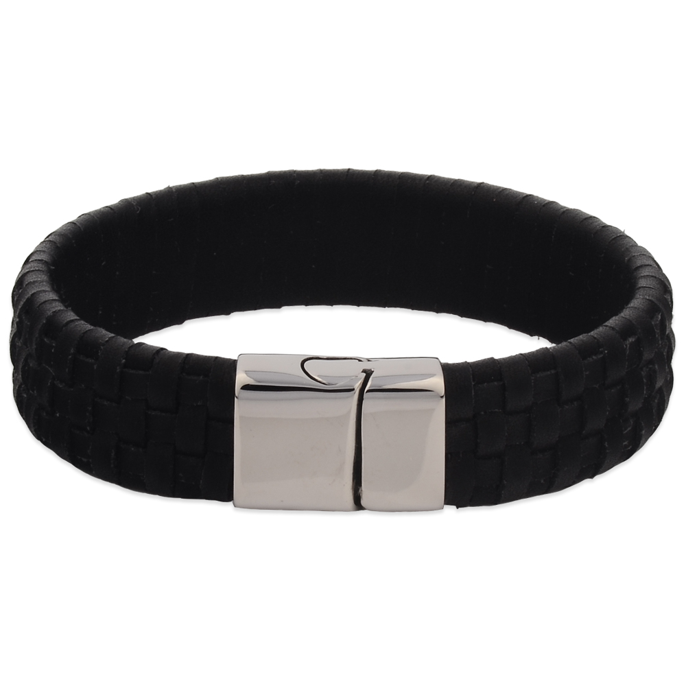 Sports Wrap Stainless Steel Magnetic Leather Bracelets For Men