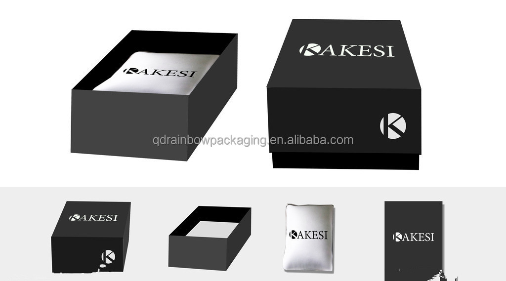 rigid paper board packaging gift box with foam insert