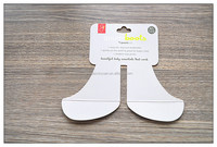 Custom shape hang tags paper tags for boots