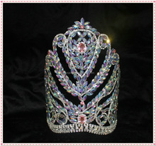 AB crystal Tall pageant crown for lady