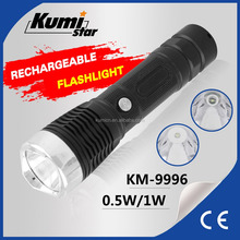 Portable Resistant LED Torch Rechargeable Flashlight High Bright Torch Light KM-9996
