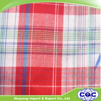 wholesale cotton yarn dyed shirting fabric in big plaid design