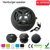 amazon best sell in music cube portable speaker, portable speaker with usb port, speaker mini hamburger speaker