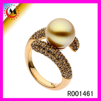 Jewelry 2016 Yellow Golds Jewellery Pearl Finger Gold Ring Lady Pearl Jewelry Rings Wholesale Alibaba