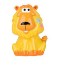 Party favor plastic animal lion coin bank