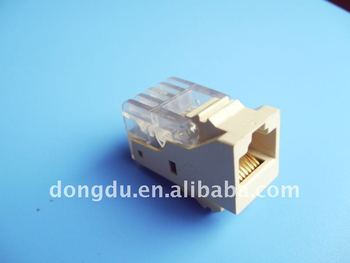RJ45 TIA568A/B CAT5e Toolless Keystone JACK