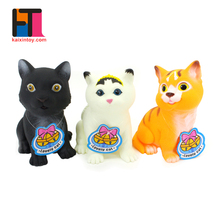 baby gift set soft plastic cats custom cute animals vinyl toy with sound