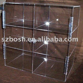 Plastic lucite bakery storage case acrylic box for storage display