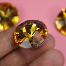 Quality Choice low price golden yellow jewelry making glass stone