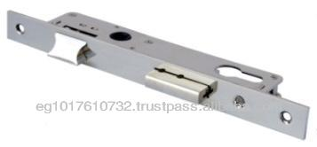 Aluminum Door Lock, Single throw dead-bolt and latch, Euro cylinder.