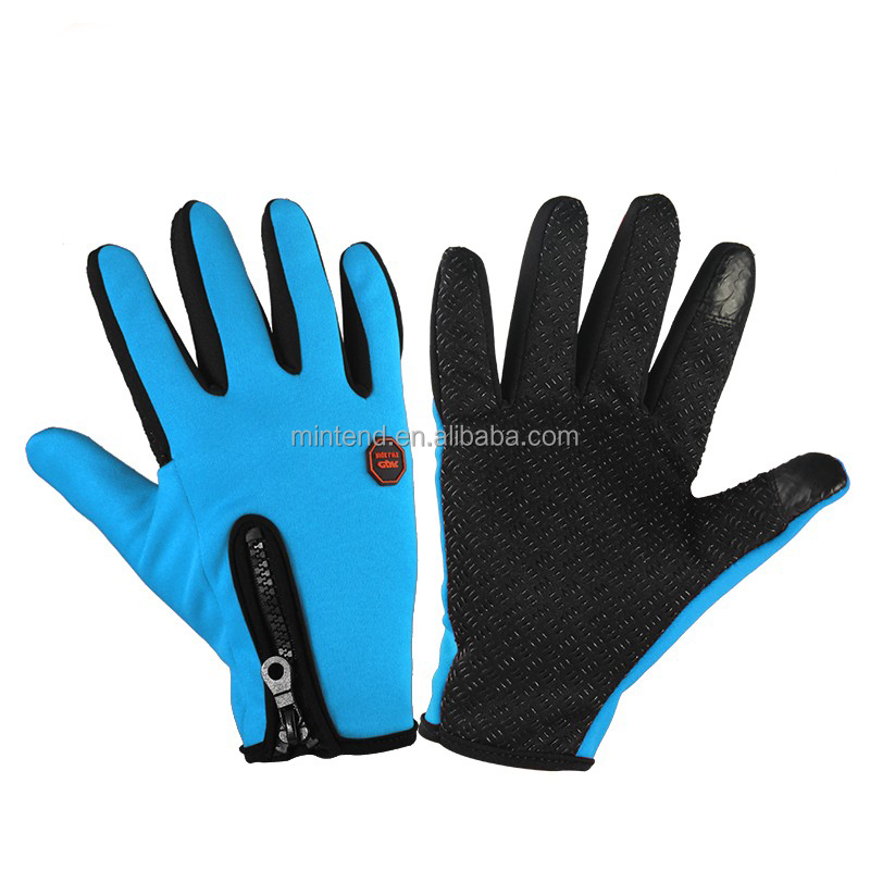 wholesale OEM Bicycle Gloves Cycling Full Finger Anti-slip cotton knitted hand Touch Screen Gloves