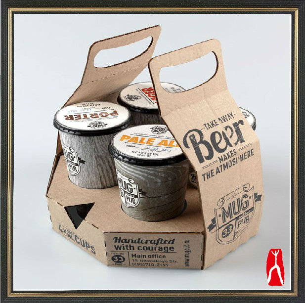 corrugated box take away drinking beer cardboard box carry handle
