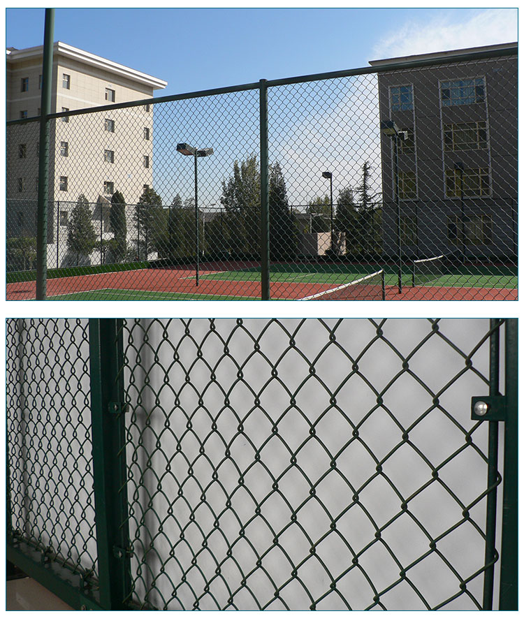 Hot sale PVC coated chain link wire mesh fence(Anping factory)