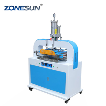 ZONESUN ZY-819T 400*500mm Automatic Stamping Machine leather LOGO Creasing machine stamper High speed card Embossing machine