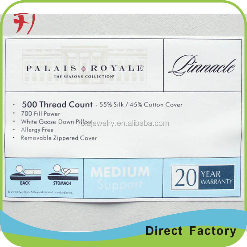 Custom printing fastness to washing label clothing textiles satin printed label