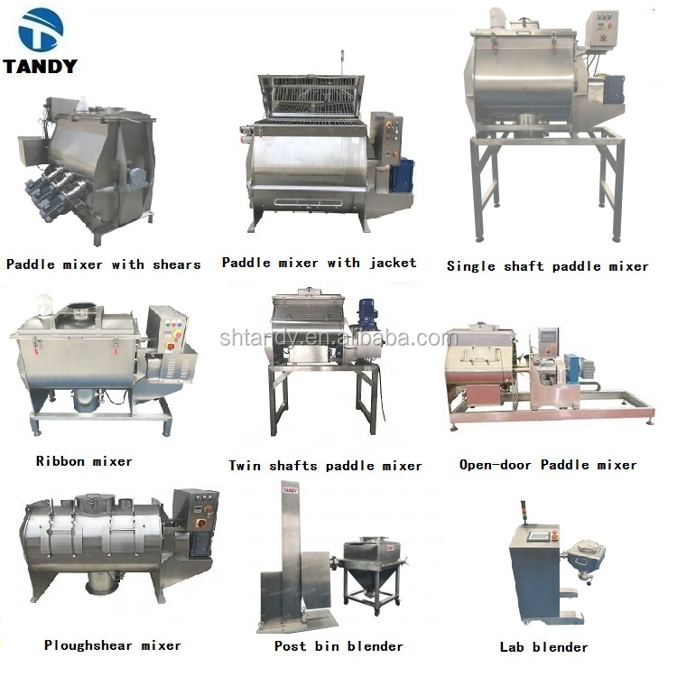 Food industry SUS 304/316  single axial  paddle mixer / blender