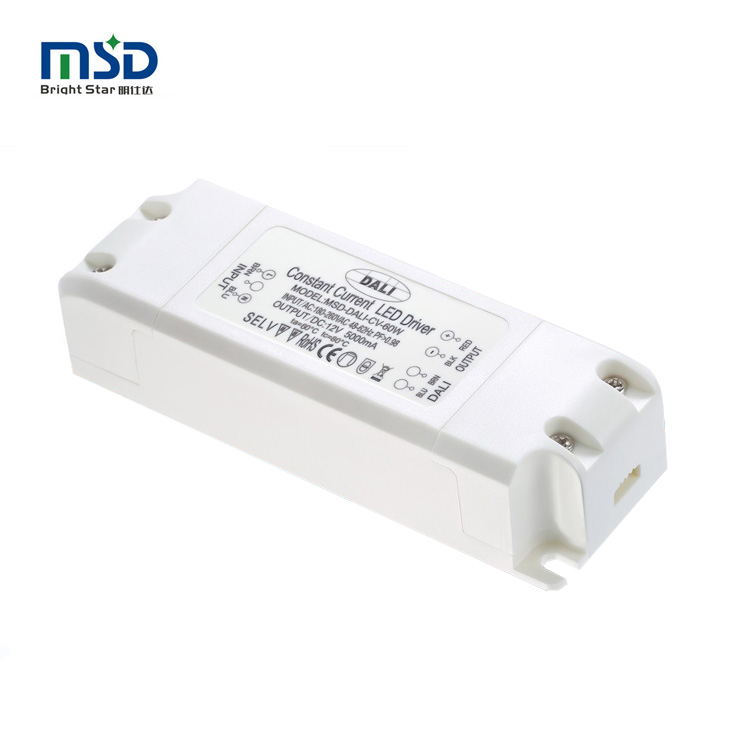 Five years warranty constant voltage power supply 12v 24v 48v 60w led dali dimmable light <strong>driver</strong> indoor PC shell factory