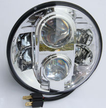 Factory directly sale hi/lo beam auto round led headlight H4 H13