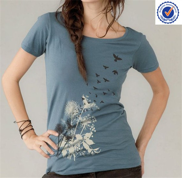 Women's Fitted Printing Cotton Tshirt