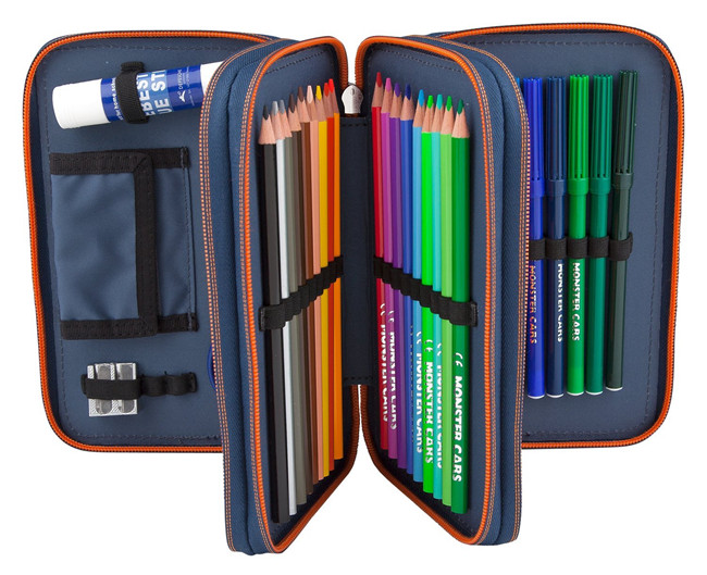 Students Stationary pencil case with compartments Large Capacity 3 Layers Pencil Holder