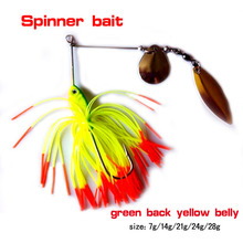 spinner bait hook , color sequin fabric ,colorful fishing lure