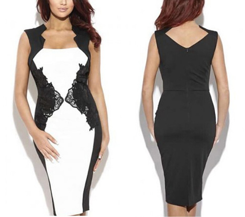 C28407A Ladies S/M/L/XL/XXL Sexy Pencil Dresses