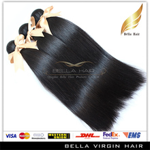 Bella 100% Unprocess Straight Hair Weave,hair weave white women