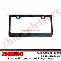 Stainless steel standard American 310*165mm size custom car license plate frame