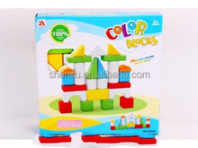 Colorful Plastic Kids Building Brick House Toy