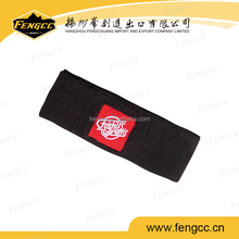 Promotional sport customized embroidery logo towel cotton headband