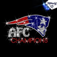 American Football Team Patriots Rhinestone Studded Heat Transfers