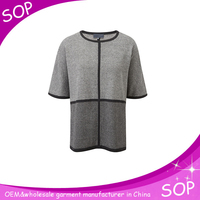 Short sleeve knitted wool sweater 2015 women fashion
