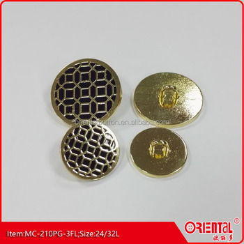 high end metal enamel button for suit
