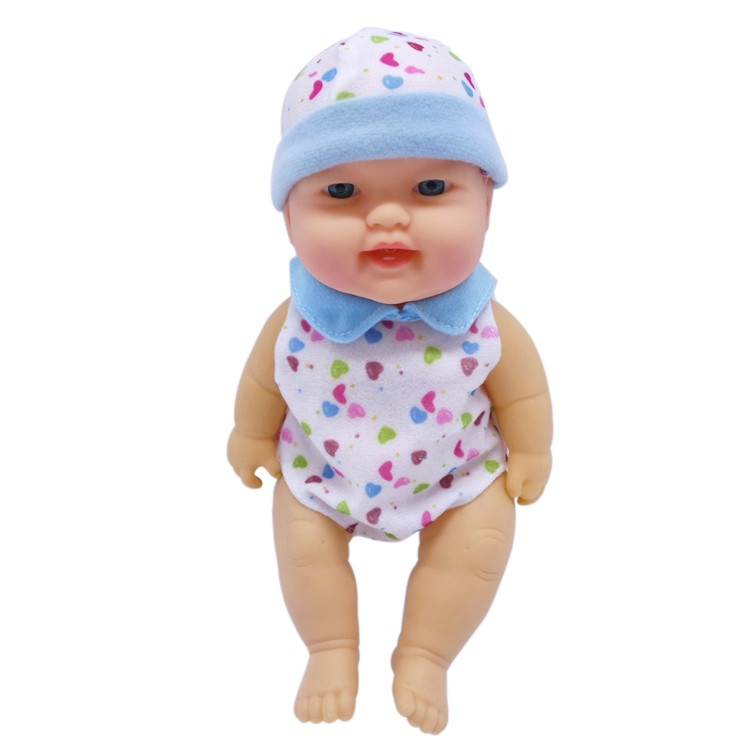 12 inch doll Vinyl laughter baby twins cotton doll with sounds