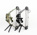 Junxing sports wholesale triangle compound bow and arrow set for hunting with camo black color