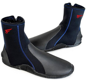 Tall Neoprene Water Sport Boots with Sole Neoprene 4mm Hi Top Zipper Wading Boot
