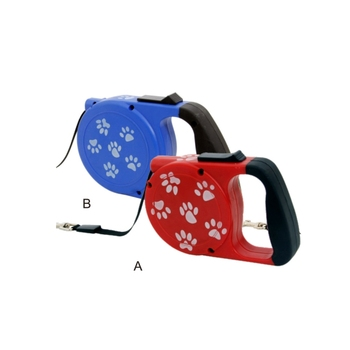Red and blue nylon smart dog leash material,dog retractable leash petstar