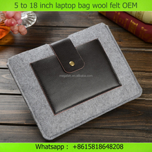 5 to 18 inch customize wool felt neoprene laptop bag with pocket