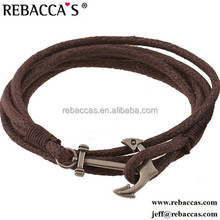Rebacca's wholesale costume jewelry lots anchor nautical rope hollow belt buckle bracelet