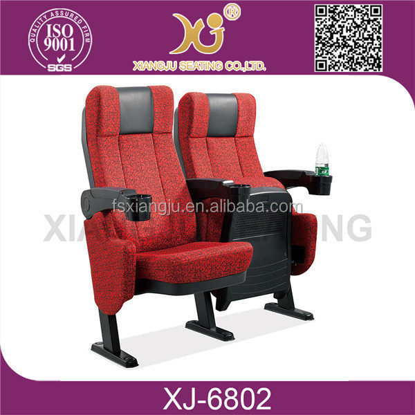 Hot-sale Theater chair cover fabric, Auditorium chair/ Cinema chair XJ-6802