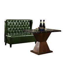 2017 Cheap Vintage Leather Restaurant Booth Sofa Design