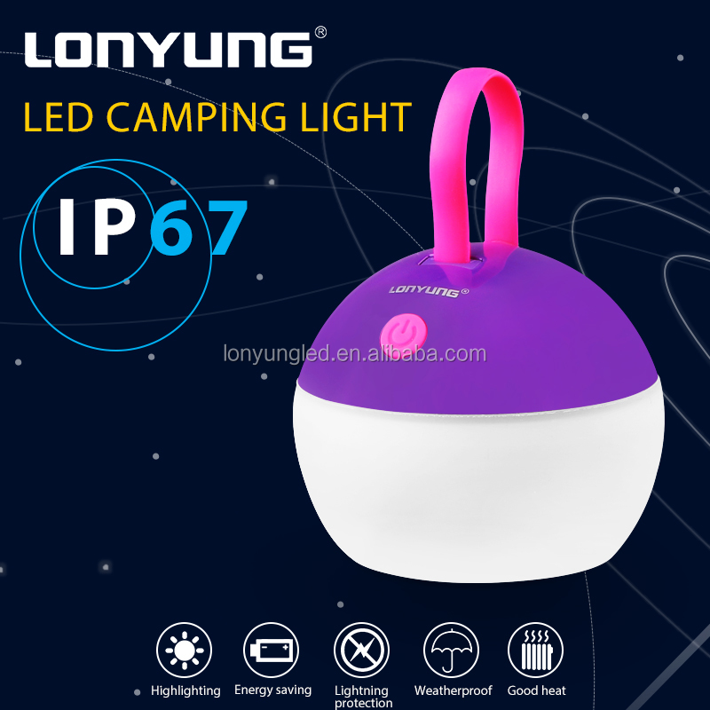Outdoor Portable Hanging Support USB Charger 300LM led camping lantern