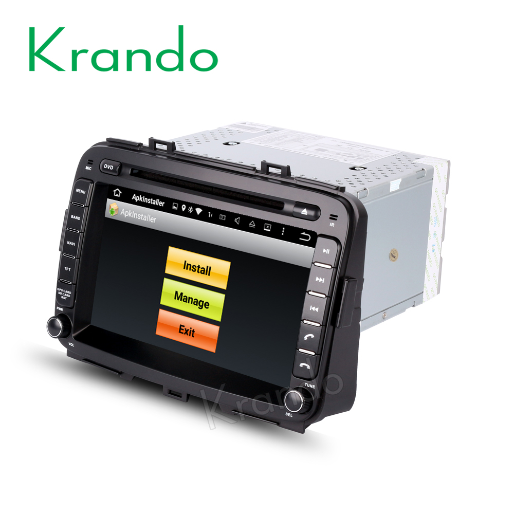 "Krando Android 7.1 8"" car dvd player gps navigation for kia carens 2013+ multimedia touch screen car radio 2g+16g KD-KC813"