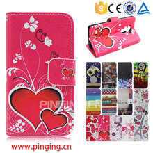 Color printing leather with card slots mobile phone accessory for Zte Blade L3 Lite